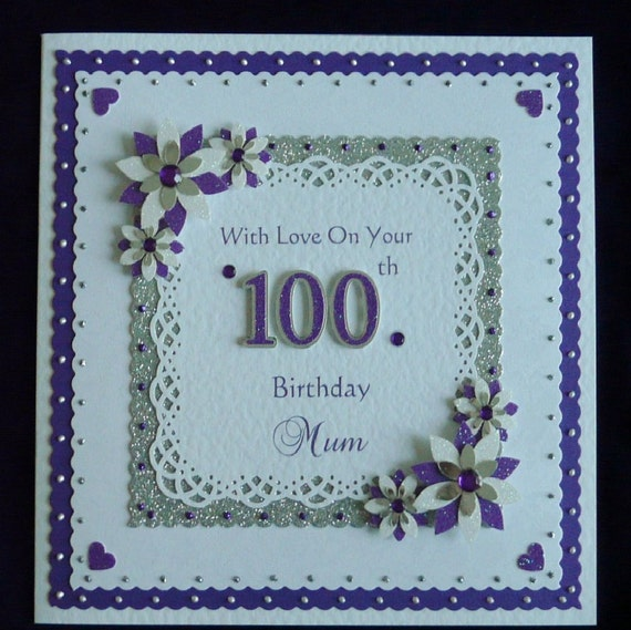 100th birthday card mumnandadgrandad etc all colours like this item bookmarktalkfo
