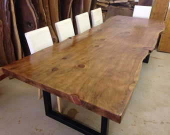 Live Edge Dining Table - Wood Slab Dining Table - Live Edge Table - Live Edge Slab Dining Table - Wood Slab Table - Redwood Table (28)