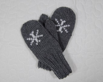 Custom snowflake mittens - toddler to adult sizes