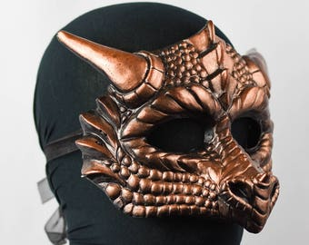 Copper Dragon Mask