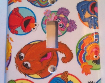 Sesame Street Single Toggle Light Switch Plate Cover