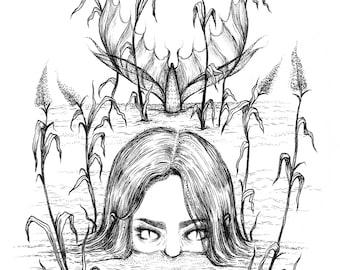 Great Lakes Mermaid Print