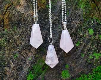 Rose Quartz Necklaces~Crystal Necklace~Crystal Jewelry~Boho Necklace~Boho Jewelry