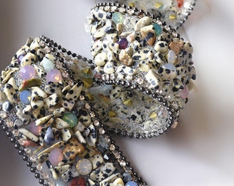 Width 3.5x50cm speckle crystal stone Hand sewing bead crystal lace sparkling clothes edge clothing accessories DIY dress wedding accessory