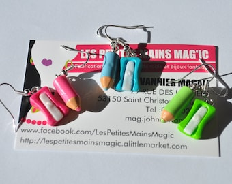 pen and pencil theme colour to choose earring
