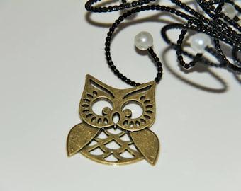 The large bronze OWL pendant