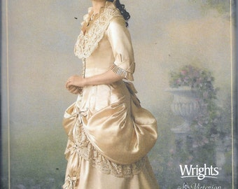 Simplicity 4244 Victorian Bridal Museum Dress Bustle Gown With Train Costume Sewing Pattern UNCUT Size 14, 16, 18 and 20