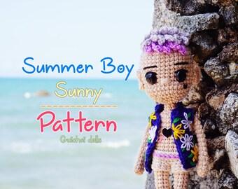 Crochet Doll Pattern - Summer Boy (Guichai Dolls Pattern, Amigurumi, Photo tutorial)