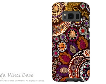Fall Paisley Case for Samsung Galaxy S8 PLUS - Paisley Galaxy S 8 PLUS Case with Floral Art - Autumn Mehndi - by Da Vinci Case