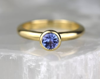Tanzanite Engagement Ring |  December Birthstone Ring | Alternative Engagement Ring | Tanzanite Ring | Gold Engagement Ring | Solitaire Ring