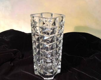 French lead crystal vase - 9 3/4 inches tall.