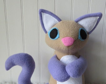 Lilac Point Siamese Cat Plush, Cat Doll, Toy Cat