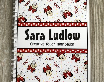 NEW!! Pre-Dated Design!!! Yearly Appointment Book with Income Tracking - Personalized - Fun Minnie Mouse Design