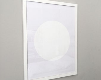 circle screenprint on paper, framed