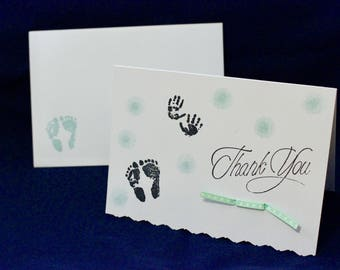 Baby Hand and Footprints Thank You Card