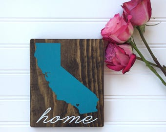 California Sate Wood Sign   California Wood Sign   California Plaque   California Decor   California Sign   State Sign   Wood Sign