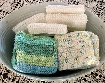 Hand knitted 100% Cotton Washcloths