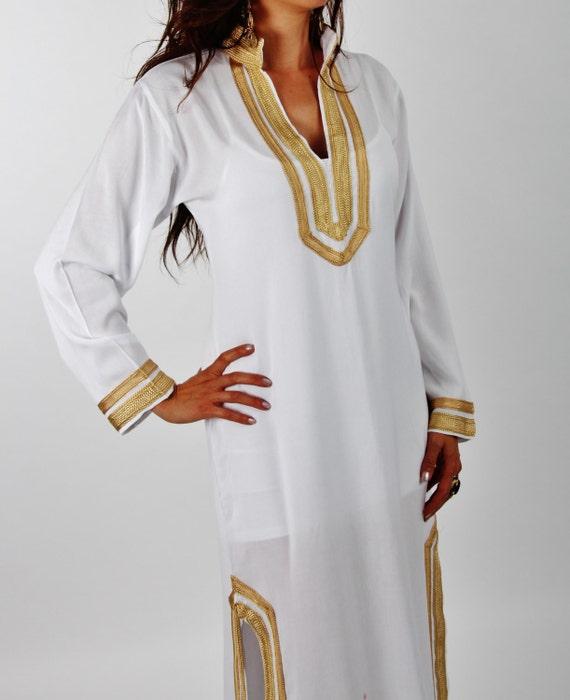 Mariam Stil weiß marokkanische Kaftan Kaftan perfekt als