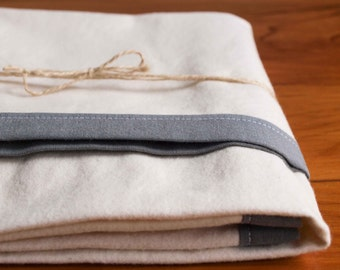 Simple, Modern Swaddling Blanket; Contemporary Gray, Ivory Baby Blanket; Flannel Receiving Blanket; Organic Cotton Toddler Blanket; SHADOW