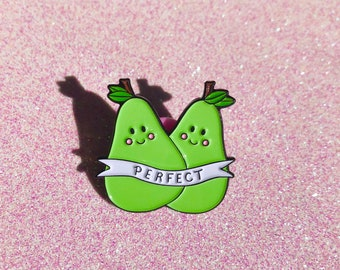 Perfect Pear - enamel pin, lesbian pride pin, feminist pin, best friend, cute enamel pin, lgbtq love is love lapel pin badge, HibouDesigns