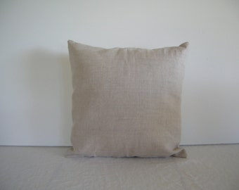 Natural Linen 14x14 Pillow Cover
