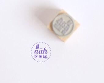 """Rubber Stamp """"ja näh is klar"""" (German)"""