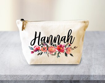 Personalised Makeup Bag, Make up Bag, Fall Decor, Fall Makeup Bag, Bridesmaid Gift, Makeup Case, Cosmetic Bag, Makeup Organiser Gift for Her