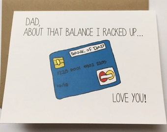 Dad Card - Happy Birthday Dad - Father's Day Card - Card for Dad