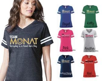 Team Monat Ladies Football V-Neck, Monat Swag, Monat Shirt, Monat Clothing, Football Shirt, Monat