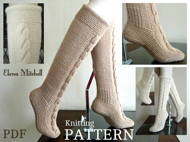 Knitting PATTERN Women Booties Adults Socks Leg Warmers
