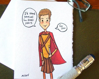 Doctor Who Greeting Card - Rory Williams Centurion - I'd Stand Sentinel for You