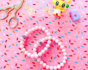 braclet de charme | bracelet breloque chat porte-bonheur | braclet de breloque Perle en verre