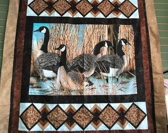 Canadian Geese Quilt Top 59x64 or Completed Quilt
