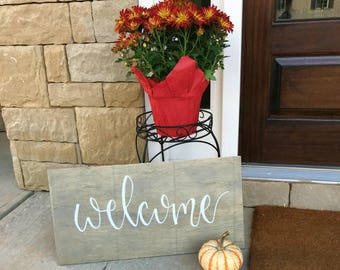 Welcome Sign | Calligraphy | Front Porch Decor | Home Decor | Welcome Home Sign