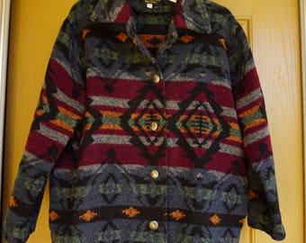 Komitor size medium southwest print jacket button up