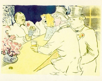 Toulouse-Lautrec - The Chap Book Poster to Frame or to use in Paper Arts, Collage, Scrapbooking, Mixed Media and MORE PSS 3024