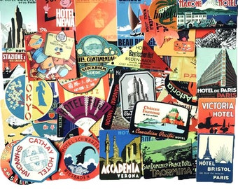 56 PC vinyl PVC Mixed Travel Location World Stickers Assorted Adhesives S4118