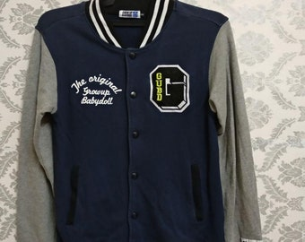 NICE...babydoll varsity jacket