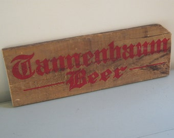 vintage Tannenbaum Beer crate end wooden red letters christmas decor