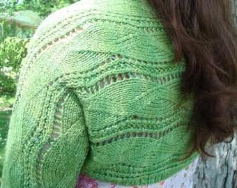 Unfurled Shrug - Knitting Pattern Womens