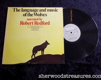 The Language and Music Of the Wolves  VINYL LP Record Album Robert Redford 1971 Columbia Stereo 1971
