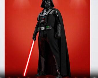 Darth Vader Star Wars color Wall Decal Sticker Living Childrens Kids Room  54