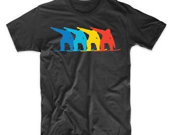 Snowboarder Retro Pop Art Snowboarding Graphic T-Shirt