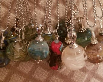 Your Choice of Handmade Lampwork Pendant with Necklace