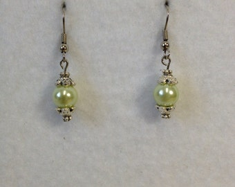 Earrings - Pearl Green