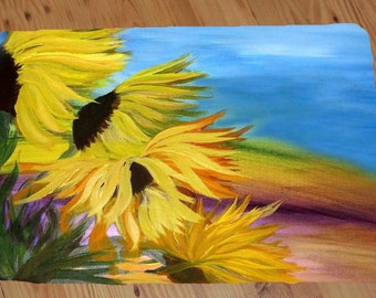 Sunflower Field  20 ounce loop floor mat