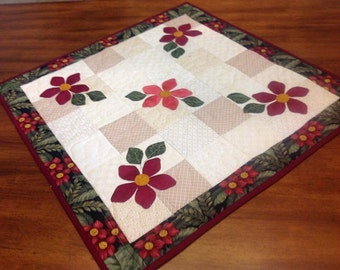 Quilted  and Appliqued Table Mat