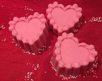 Queen of Hearts Soap Bar- Handmade Soap, Valentines Day Soap, Wild Berry Scented