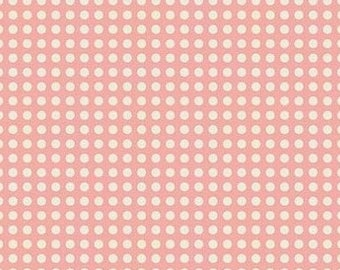 Patchwork fabric, fabric dots by Riley Blake Sweetest thing The salmon to coupon