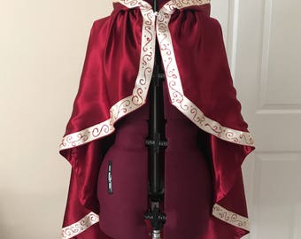 Belle 2017 Cosplay Cape and Vest Women's Costume